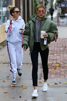 """ January 20: Hailey and Maeve Reilly leaving Alfredo Coffee in Beverly Hills [HQs] """