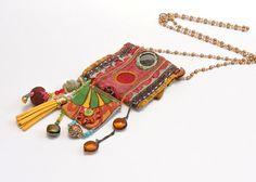 Collier de textile hindou Vintage collier Bijoux en par ATLIART
