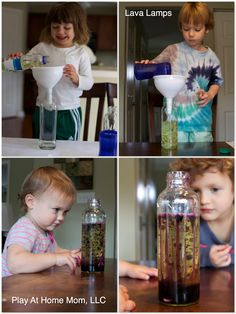 DIY Lava Lamps for kids - Bryson's mad scientist b-day party idea