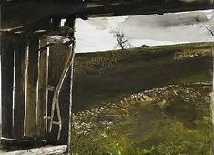 "Artist: Andrew Wyeth Title: Wylie's Scythe Medium: Watercolor on paper Year Completed: 1986 Dimensions: 22"" x 29.88"" Signed: Andrew Wyeth/Lower right Copyright Andrew Wyeth"