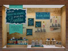 Projeto de vitrine para o Dia dos Pais da The Beauty Box ©Camila Salek