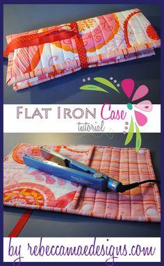 Curling Iron Flat Iron Case Tutorial
