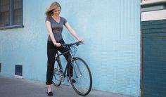 Women's Black Bike to Work Pants
