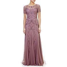 Buy Adrianna Papell Floral Beaded Gown, Dusty Pink from our Women's Dresses Offers range at John Lewis & Partners. Bridal Dresses, Prom Dresses, Formal Dresses, Gown Pattern, Fairytale Dress, Beaded Gown, Adrianna Papell, Wedding Attire, Dusty Pink