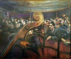 Giovanni Boldini A teatro Pastello su carta, cm 36,5 x 50 Collezione privata