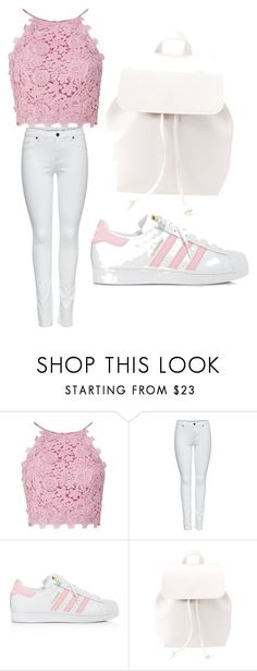 """""""Untitled #4 explore Pinterest""""> #4"""" by spillertt40 liked on Polyvore featuring M&Co, adidas and… - #blouse"""
