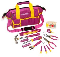 GreatNeck 21043 32-Piece Essentials Around the House Tool Set in Pink Bag Great Neck http://www.amazon.com/dp/B005CWJILI/ref=cm_sw_r_pi_dp_hzJOvb0S9RRAJ