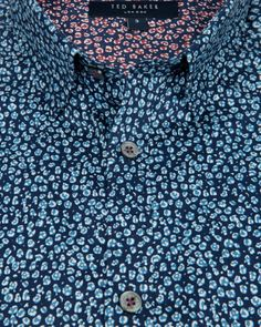 Small floral print shirt - Blue | Shirts | Ted Baker