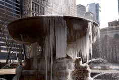 The  Josephine Shaw Lowell Memorial Fountain in Bryant Park is covered in ice on March 13, 2017 as the weather continues to be below freezing. The northeastern United States braced Monday for what meteorologists predict could be the worst winter storm of the season, with blizzards feared to dump knee-high snow on New York. / AFP PHOTO / TIMOTHY A. CLARY        (Photo credit should read TIMOTHY A. CLARY/AFP/Getty Images) via @AOL_Lifestyle Read more…