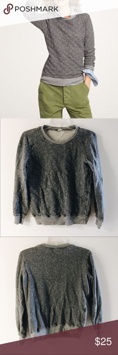 Jcrew quilted front sweatshirt Hello weekend wardrobe. Cozy terry cloth lining perfect transitional piece light enough to wear in warmer months. 100% cotton J. Crew Tops Sweatshirts & Hoodies