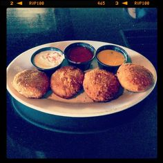 Mini stuffed avocados, a specialty at Trudy's in Austin, Texas