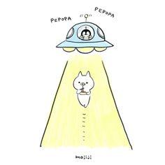 """4,025 """"Μου αρέσει!"""", 26 σχόλια - もじじ (@mojiji2014) στο Instagram: """"やきそばとUFO #ねこくん#ぺんちゃんもねこぺん日和#ねこぺん#UFOの日"""""""