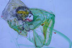 Green Nude, mixed media, Lesley Birch 2014 www.lesleybirch.co.uk