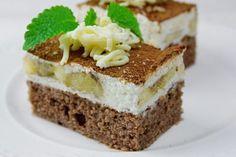 Banánové rezy s mascarpone a tvarohom | Pečené-varené.sk