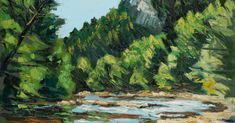 Avoca Downriver by Rod Coyne - Avoca Studio Gallery Canvas Frame, Oil On Canvas, Canvas Prints, Original Artwork, Original Paintings, Your Paintings, Painting Frames, New Pictures, New Art