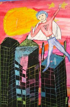 Cassie Stephens: In the Art Room: Super Hero Selfies
