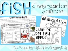 """Everything you need for your kindergarten or 1st grade science unit! All you need to do is add the pet fish.  Included: -Science Journal for your students to label a fish, record their observations, create a word bank, and more -12 page mini book called """"What Do Pet Fish Need?"""" -writing prompts -Compare & Contrast charts for comparing 2 types of fish -T Charts for recording observations about fish -""""How to Draw a Fish"""" drawing and writing activity -Sight Word Write..."""