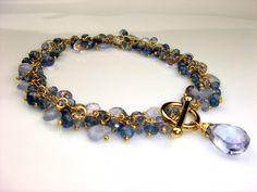 Mystic Blue Quartz Tanzanite Chalcedony by TaylorMadeJewelry