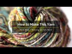 How to Make Art Yarn: How I card an art batt - YouTube