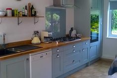 An Innova Norton Cornflower Blue Kitchen
