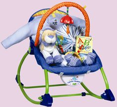 Bouncy Baby Seat - talk about a bouncing delight! Nutcracker Sweet, Beautiful Gifts, Gift Baskets, Baby Car Seats, Baby Gifts, Babies, Children, Sympathy Gift Baskets, Young Children