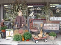 Prim Fall Decor...at the Black Crow Antiques.