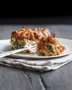 Spinach & Turkey Lasagna from The Yellow Table
