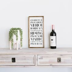 Classically neutral and timeless. decorate your home with purpose. WilliamRaeDesigns Ebony Types of Wines Rustic Kitchen Decor, Rustic Wall Decor, Rustic Walls, Rustic Signs, Funny Bathroom Decor, Wood Bathroom, Rustic Style, Farmhouse Style, Farmhouse Decor
