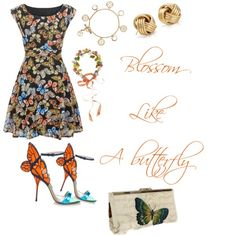 You give me Butterflies. by campanellinoo on Polyvore featuring polyvore, fashion, style, Mela Loves London, Sophia Webster, Blue Nile, Tory Burch and Eugenia Kim