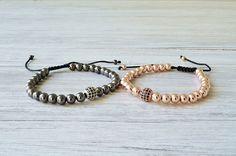 Bracelets set, beaded bracelet, fashion jewelry, trends jewelry, zircon bracelets, adjustable bracelet