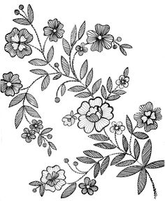 Embroidery Pattern from Mustrilaegas.blogspot.com B Tikkimine / Embroidery. jwt I would stitch the direction of the lines.