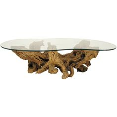 Modernist Driftwood Coffee Table with Biomorphic Plate Glass Top driftwood and glass coffee tables Driftwood Coffee Table, Driftwood Furniture, 1950s Furniture, Table Furniture, Glass Top Coffee Table, Coffee Tables, Polished Concrete, Center Table, Cocktail Tables