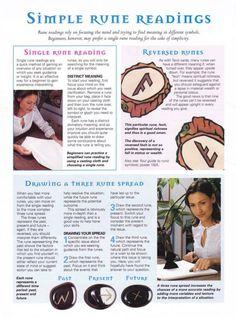 Mind, Body, Spirit Collection - Simple Rune Readings Norse Runes, Elder Futhark Runes, Viking Runes, Ancient Runes, Viking Symbols, Rune Casting, Rune Reading, Rune Symbols, Rune Stones