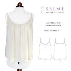 Gathered Top Beginner Sewing Pattern – Salme Sewing Patterns