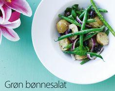 Grøn bønnesalat med oliven - tilfør kapers