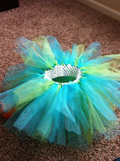 Teal and lime mixed color tutu baby girl tutu by TheHomemadeNest