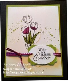 Blessed Easter - Stampin' UP! Spotlight Technique