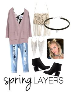 """Pastel grunge"" by emmatraynor on Polyvore featuring Ally Fashion, Goroke, Alexander Wang, Jules Smith, cutecardigan and springlayers"