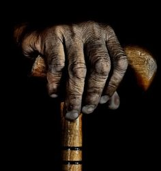 Hand with a cane