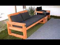 DIY Modern Outdoor Sofa - DIY Modern Outdoor Sofa Enjoy the outdoors! Build this solid, but stylish outdoor sofa. Perfect for patios and outdoor event. Here is what you can expect from the plan. Outdoor Sofa Sets, Modern Outdoor Sofas, Modern Sofa, Outdoor Living, Pallet Garden Furniture, Diy Outdoor Furniture, Geek Furniture, Antique Furniture, Furniture Ideas