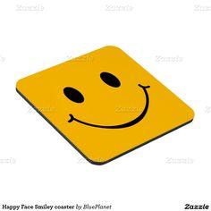 Happy Face Smiley coaster