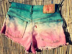 DIY ombre shorts - I need to try this!