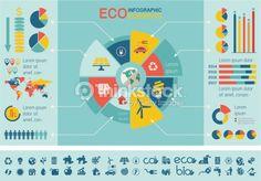 Clipart vectoriel : Ecology Infographic Template.