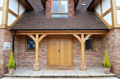 Timber Frame Self Build Homes from Scandia-Hus Cottage Porch, Home Porch, House With Porch, House Front, Barn House Conversion, Porch Canopy, Glass Porch, Front Porch Design, Front Porches