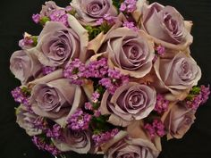 wedding bouquet August   ... bridal bouquets. Top: hot pink roses, pink stock and lavender lantana