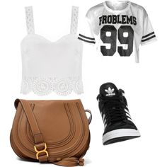 Untitled #276 by evanmonster on Polyvore featuring polyvore fashion style adidas Originals Chloé