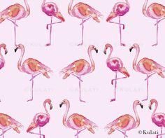 Instant Download Preppy pink flamingo Digital Paper