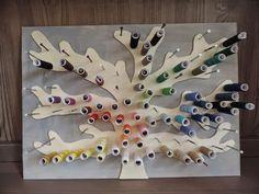DIY Garnrollen Baum