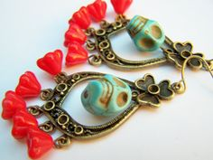 Day of the Dead Skull Earrings by polishedtwo