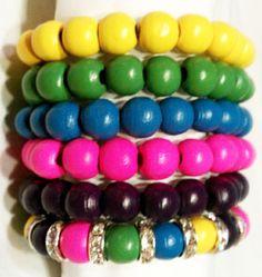 N'Genious Creations - WOOD BEADS BRACELET SET, $10.00 (http://www.ngeniouscreations.com/wood-beads-bracelet-set/)